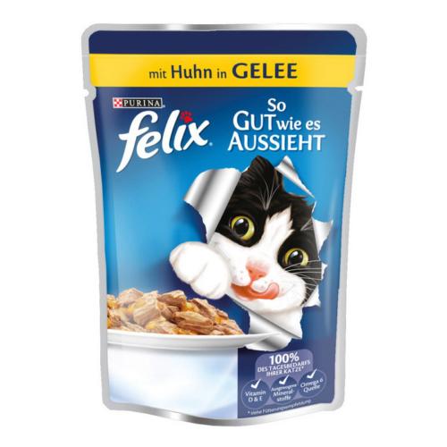 Felix Agail Sığır Tavuklu Kedi Pouch 100Gr