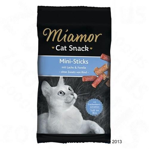 Miamor Mini Sticks Somonlu Yetişkin Kedi Ödülü