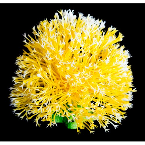 Top Şekilli Plastik Bitki 10Cm Sarı