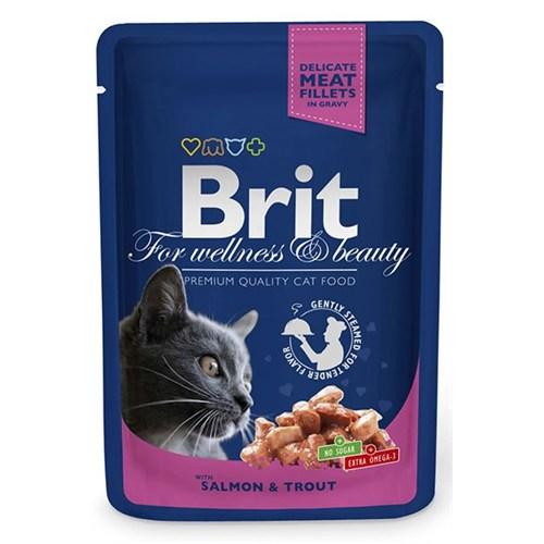 Brıt Premium Somon&Alabalıklı Pouch Kedi Maması 100 Gr