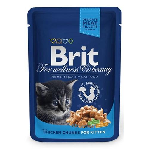 Brıt Premium Tavuk&Balıklı Pouch Yavru Kedi Maması 100 Gr