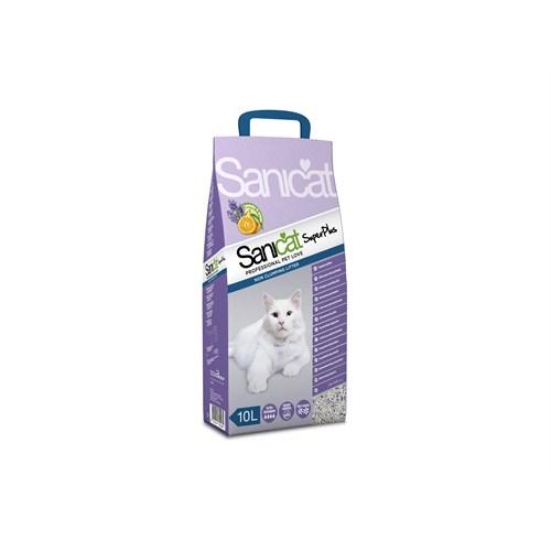 Sanicat Superplus Çift Aromalı Lavanta Ve Portakallı Doğal Kedi Kumu 10 L