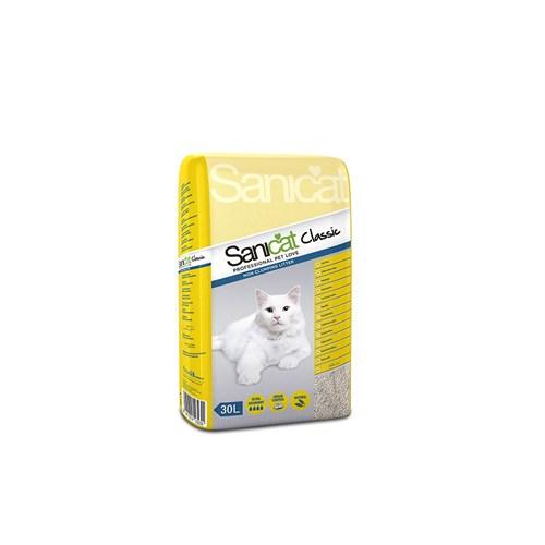 Sanicat Classic Professıonal Tozsuz Antibakteriyel Kokusuz Doğal Kedi Kumu 30 L