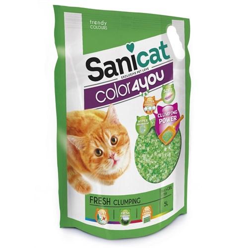 Sanicat Color 4 You Green Doğal Kedi Kumu 5 L