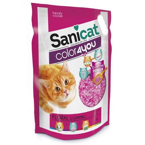 Sanicat Color 4 You Pink Doğal Kedi Kumu 5 L