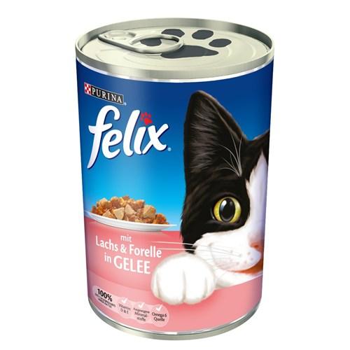 Felix Somon Ve Alabalıklı Kedi Konservesi 400Gr