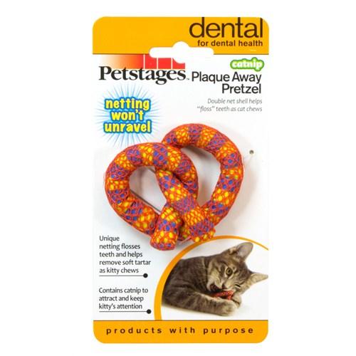 Petstages Catnip Plaque Away Pretzel (catnipli kedi oyuncağı, diş temizliği, ağız bakımı yapar)