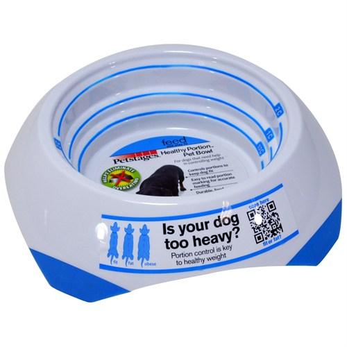 Petstages Healthy Portions Bowl (Mama Ve Su Kabı , Kendinden Ölçekli, Bulaşık Makinasında Yıkanabilir, Kaymaz, Anti Bakteriyel)