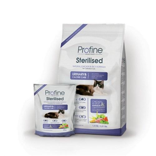 Profine Sterilised Doğal Tavuk Ve Pirinçli Kısırlaştırılmış Kuru Kedi Maması 3 Kg