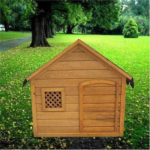 Garden Kapılı Köpek Kulübesi Koyu Kahverengi
