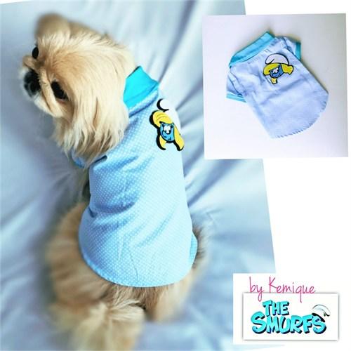 Smurfs By Kemique Köpek Tişört Şirine L