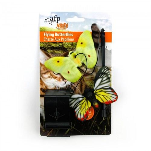 Allforpaws Doğal İçgüdü Uçan Kelebek Kedi Oyuncağı