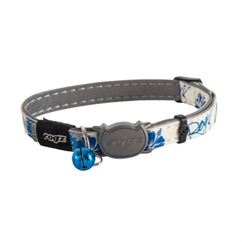 Rogz Glowcat Mavi Çiçekli Boyun Tasması 11 Mm 20-31 Cm