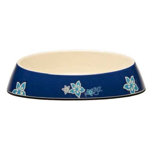 Rogz Bowlz Fishcake Mavi Çiçekli Mama Mabı Medium 200 Ml.