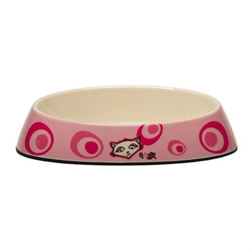 Rogz Bowlz Fishcake Pembe Çiçekli Mama Kabı Medium 200 Ml.