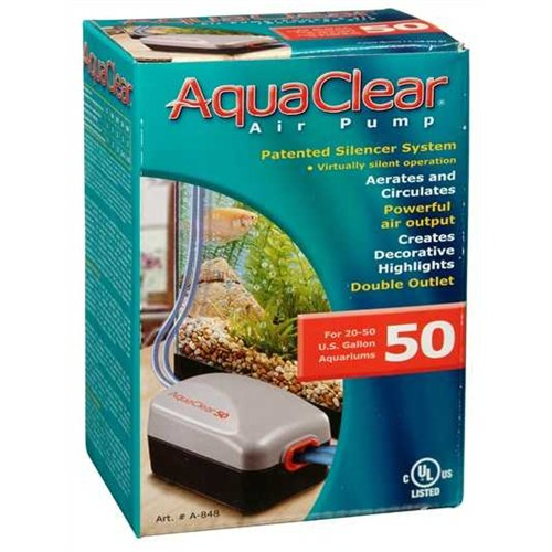 Aqua Clear 50 Hava Motoru Çift Çıkışlı