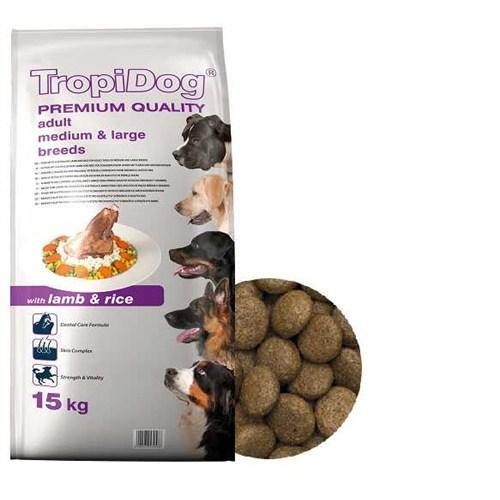 Tropidog Premium Kuzu Etli Yetişkin Köpek Maması 15 kg