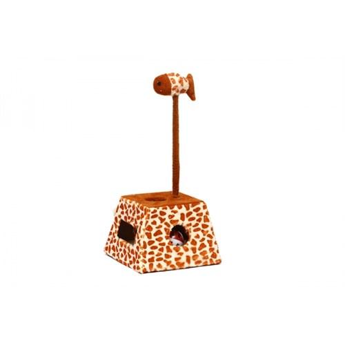Zürafa Desenli Toplu Kedi Oyuncağı