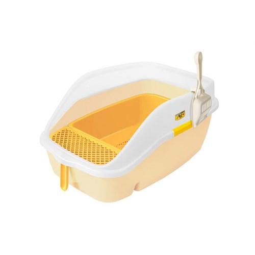 Açık Büyük Kedi Tuvaleti Sarı