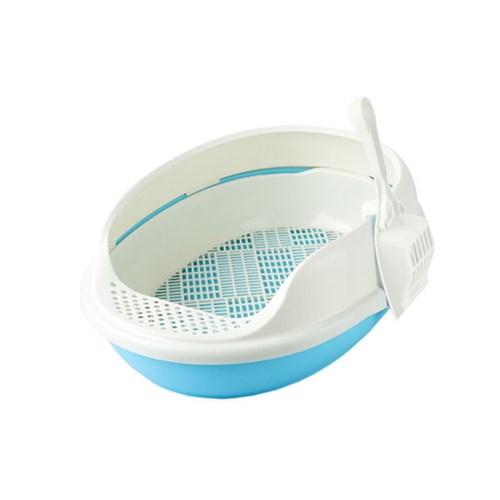 Açık Lux Kedi Tuvaleti Elekli Gök Mavisi