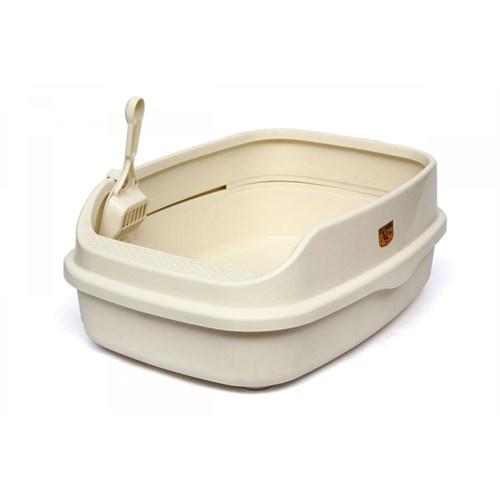 Cl5 Açık Lux Kedi Tuvaleti Xl Krem