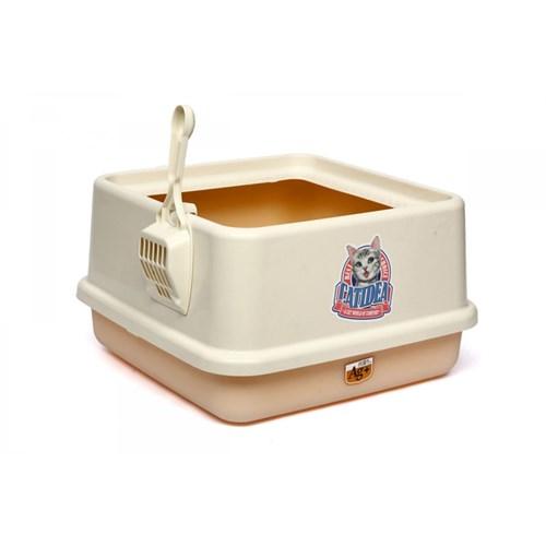 Yüksek Lux Kedi Tuvaleti Sarı