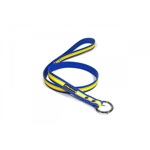 Köpek Gezdirme Kayışı 1,5 Cm Sarı-Lacivert S