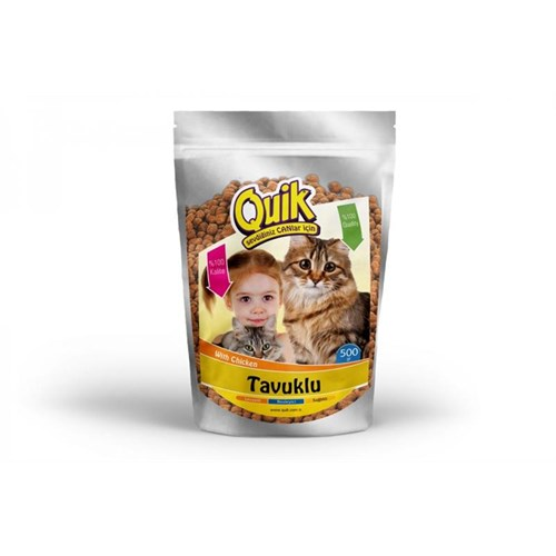 Kedi Maması 500 Gr Tavuklu Quik