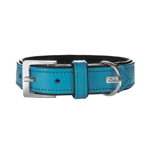 Hunter Yumuşak Dokulu Deri Köpek Boyun Tasması 1,8- 29-35 Cm Mavi