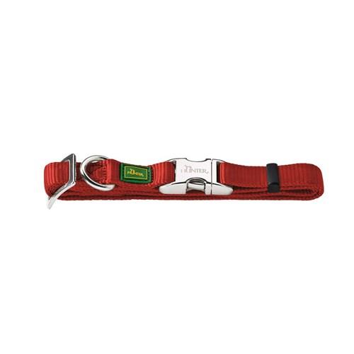 Hunter Vario Naylon Metal Klipsli Köpek Boyun Tasması 2,5 - 45 - 65 Cm Kırmızı