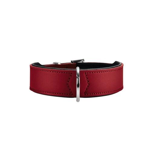 Hunter Basic Deri Köpek Boyun Tasması 3,9 - 41 - 49 Cm Kırmızı