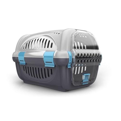 Georplast ''Rhino'' Plastik Şeffaf Kapılı Taşıma Kabı 51 X 34,5 X 33 H Cm