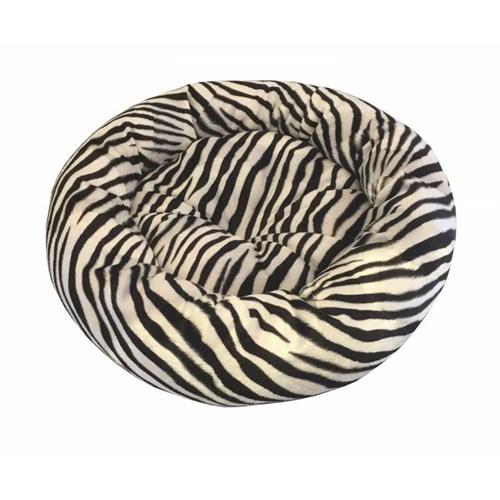 Pet Pretty Kedi Ve Köpekler İçin Yuvarlak Minder Yatak Zebra 52 X 14 Cm