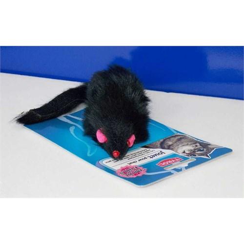 Vitalveto Siyah Uzun Tüylü Fare Kedi Oyuncağı