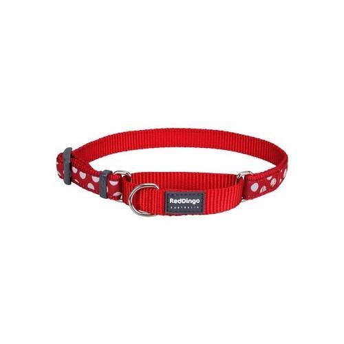 Reddingo Kırmızı Üzerine Beyaz Benekli Köpek Eğitim Tasması 20 Mm