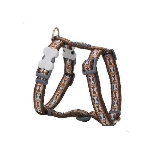 Reddingo Bone Yard Desenli Kahverngi Xl Köpek Göğüs Tasması 25 Mm