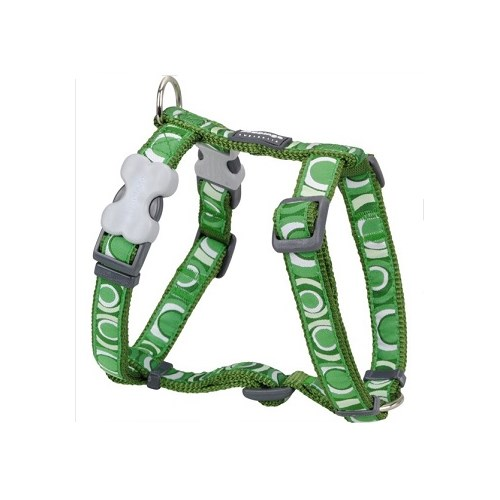 Reddingo Circadelic Desenli Yeşil Köpek Göğüs Tasması 15 Mm
