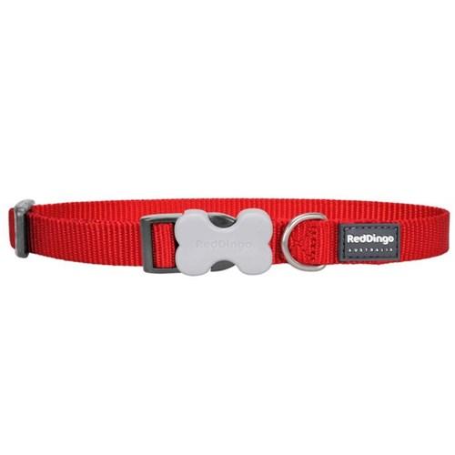 Reddingo Klasik Kırmızı Köpek Boyun Tasması 12 Mm