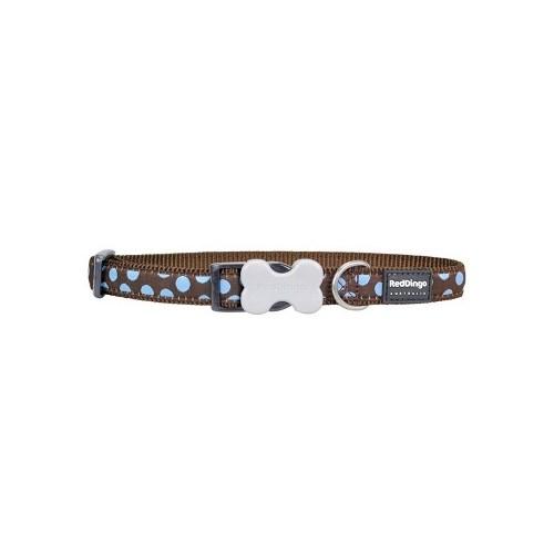 Reddingo Kahverengi Üzerine Mavi Benek Köpek Boyun Tasması 25 Mm