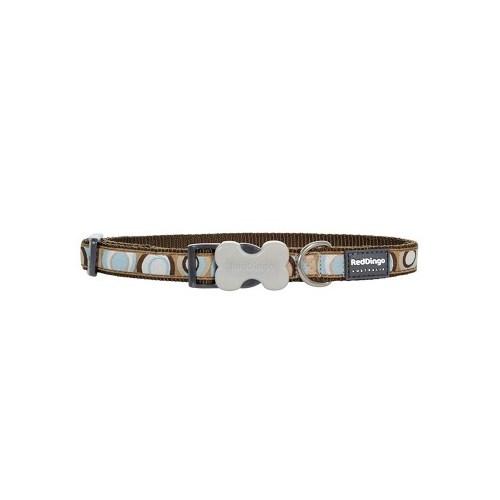 Reddingo Circadelic Desenli Kahverengi Köpek Boyun Tasması 12 Mm