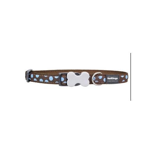 Reddingo Kahverengi Üzerine Mavi Benekli Köpek Boyun Tasması 20 Mm
