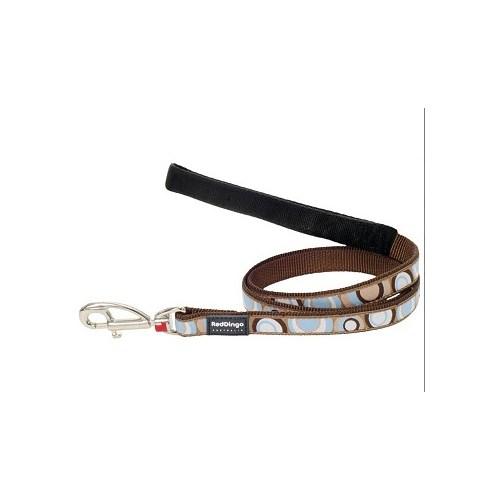 Reddingo Circadelic Desenli Kahverengi Uzatma Köpek Tasması 25 Mm
