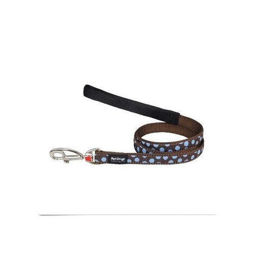 Reddingo Kahverengi Üzeri Mavi Benekli Uzatma Köpek Tasması 12 Mm