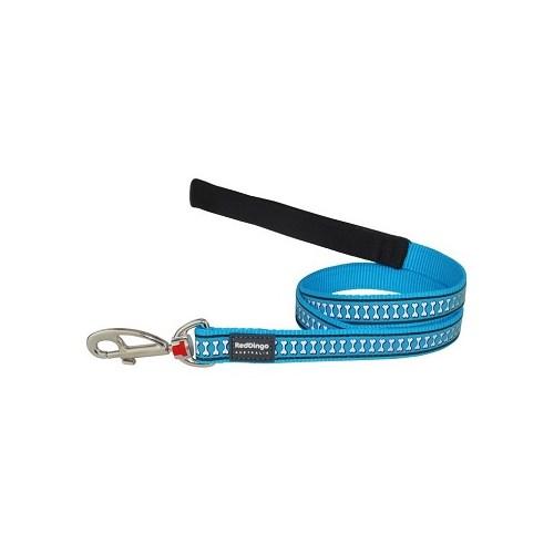 Reddingo Fosforlu Kemik Desenli Mavi Uzatma Köpek Tasması 20 Mm