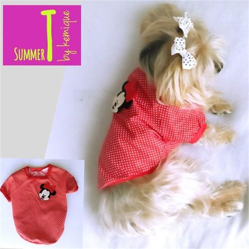 Kemique Kırmızı Minnie Mouse Oval Yaka Tişört - Summer T By Kemique M