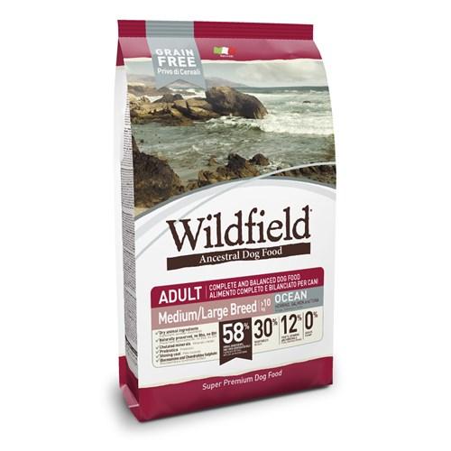 Wildfield Okyanus Ringa Balıklı,Somonlu Ve Ton Balıklı Orta-Büyük Irk Köpek Maması 12 Kg