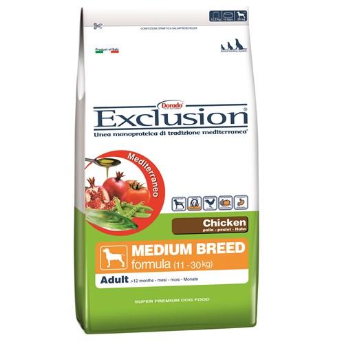 Exclusion Mediterraneo Tavuk Etli Yetişkin Orta Irk Köpek Maması 12,5 Kg