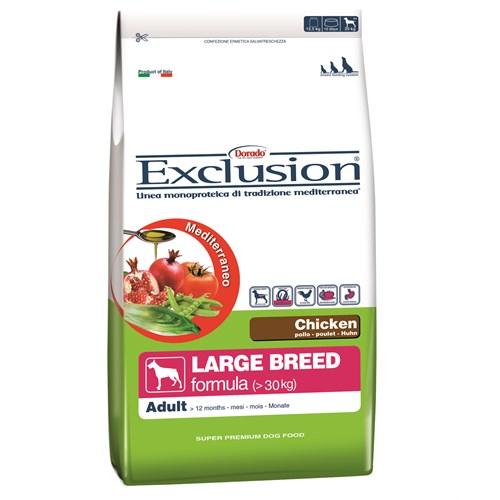 Exclusion Mediterraneo Tavuk Etli Yetişkin Büyük Irk Köpek Maması 12,5 Kg