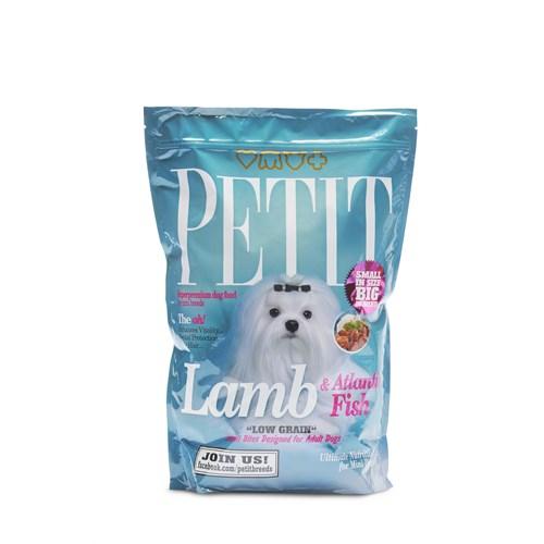 Petit Dry Küçük Irk Köpekler İçin Kuzu Ve Atlantik Balıklı Az Tahıllı Yetişkin Köpek Maması 1,5Kg