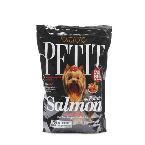 Petit Dry Küçük Irk Köpekler İçin Somonlu Tahılsız Yetişkin Köpek Maması 1,5Kg